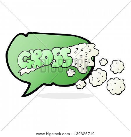 gross freehand drawn speech bubble cartoon