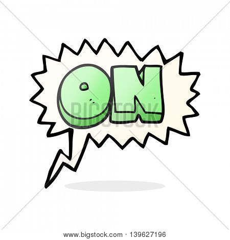 freehand drawn speech bubble cartoon on symbol