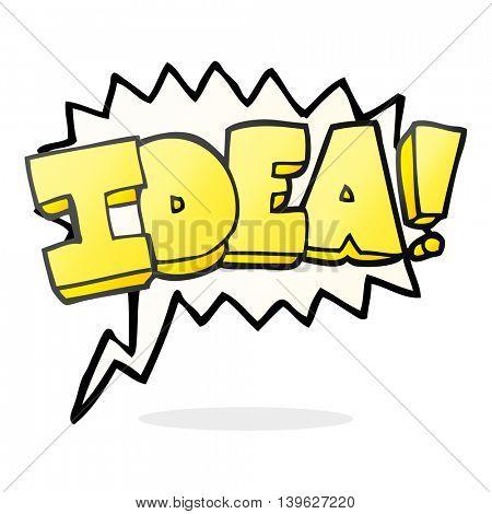 freehand drawn speech bubble cartoon idea symbol
