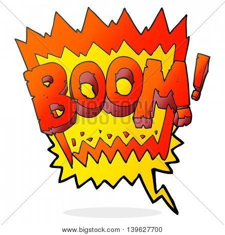 freehand drawn speech bubble cartoon boom symbol