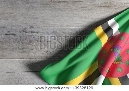 Dominica Flag Waving