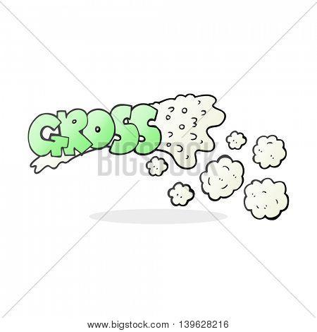 gross freehand drawn cartoon