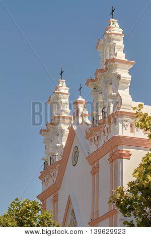 Church Of El Carmen In Cadiz, Andalusia, Spain