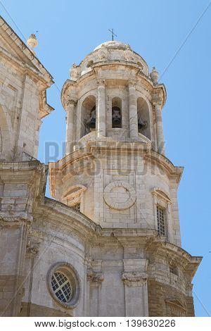 Detail Of The Cathedral In Cadiz, Spain