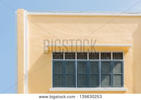 yellow building Chino Portuguese Old Town Old building Colonial Style