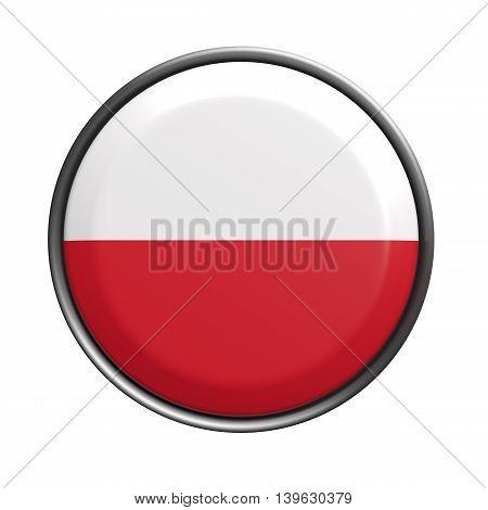 Button With Poland Flag