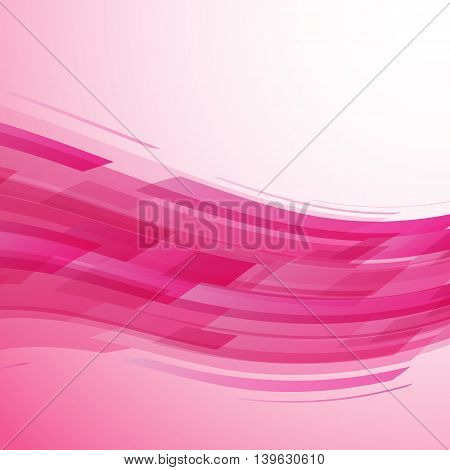 Abstract pink wave technology background, stock vector