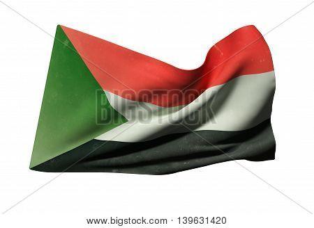 Sudan Flag Waving