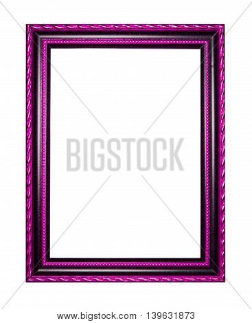 wooden frame for painting or picture on white background