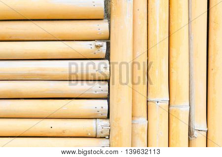 abstract bamboo wall for texture and background.