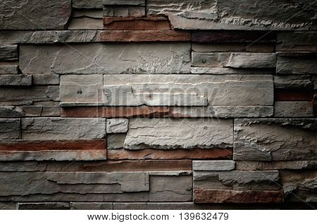 abstract blackand white bricks wall pattern texture background