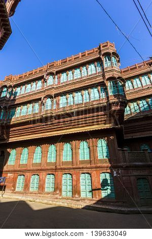 beautiful old haveli in Bikaner Rajasthan India