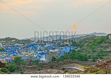 Sunset In Jodhpur The