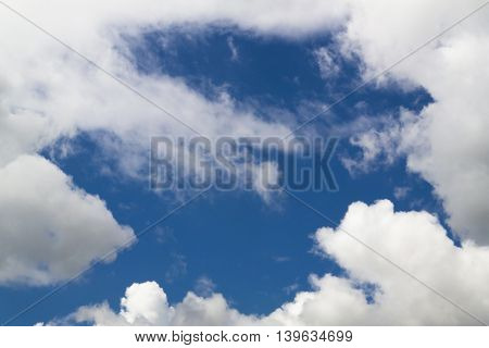 Sky, blue sky, blue sky and clouds, beautiful blue summer sky, blue sky and white clouds