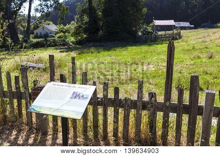 Fort Ross State Historic Park With Russian Village Sloboda