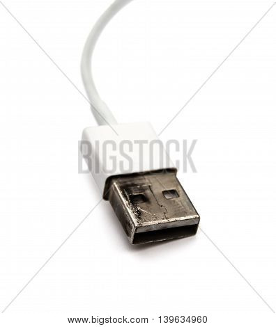 burnt out usb cable for a charger