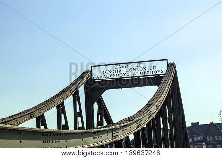 historic bridge eiserner Steg in Frankfurt Germany.