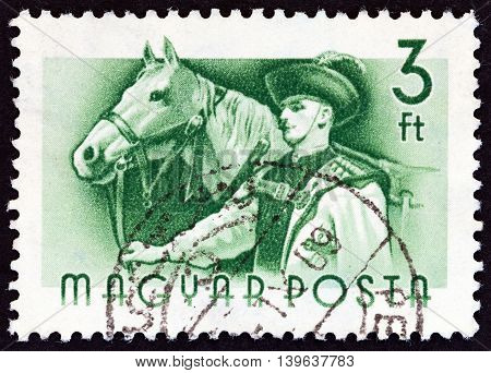 HUNGARY - CIRCA 1955: A stamp printed in Hungary from the
