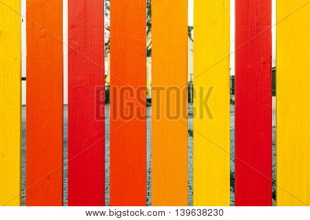 Wooden Fence In Harmonic Positive Colors