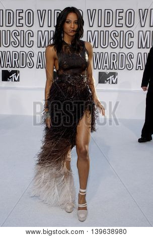 Ciara at the 2010 MTV Video Music Awards held at the Nokia Theatre in Los Angeles, USA on September 12, 2010.
