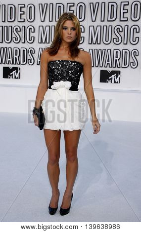 Ashley Greene at the 2010 MTV Video Music Awards held at the Nokia Theatre in Los Angeles, USA on September 12, 2010.
