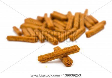 crackers snack  toast isolated on white background