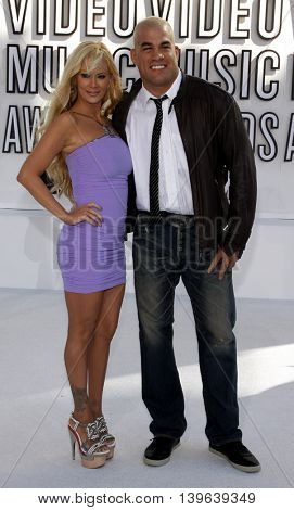 Tito Ortiz and Jenna Jameson at the 2010 MTV Video Music Awards held at the Nokia Theatre in Los Angeles, USA on September 12, 2010.