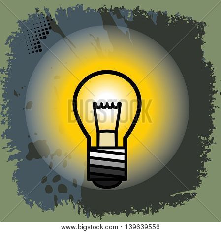 Light bulb abstract color background, vector illustration