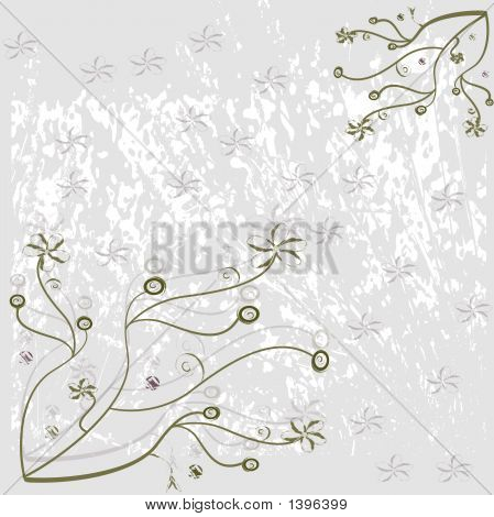Green Floral Background