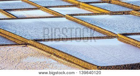 Salt Refinery, Saline From Janubio, Lanzarote, Spain