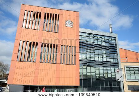 COLCHESTER ESSEX ENGLAND 8 March 2015: Colchester Magistrates court building