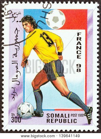 SOMALIA - CIRCA 1997: A stamp printed in Somalia from the