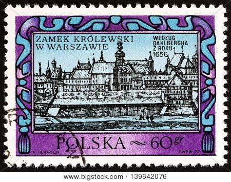 POLAND - CIRCA 1972: A stamp printed in Poland from the