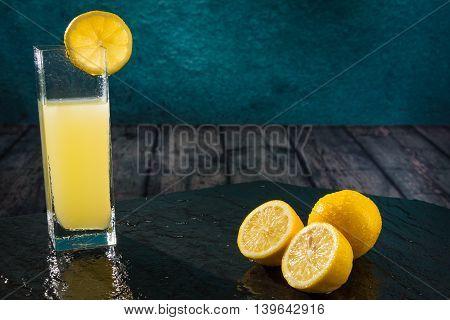 Limon Citrus Fruit Cut In Half