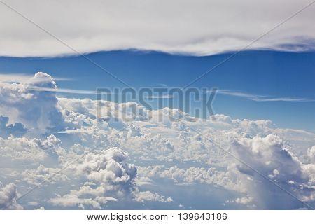 harmonic puffy white cloud with blue sky