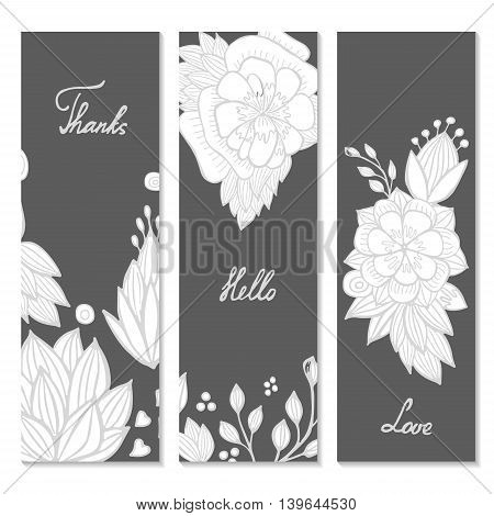 stock vector template for brochure card cover book invitation with doodle orient flowers.