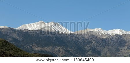 The White Mountains in Crete, seen from the North