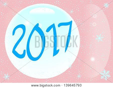 A new year for 2017 celebration background
