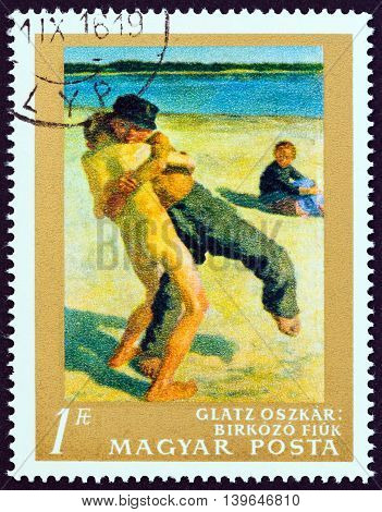 HUNGARY - CIRCA 1967: A stamp printed in Hungary from the