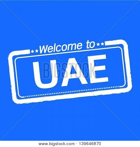 an images of Welcome to UAE UNITED ARAB EMIRATES illustration design