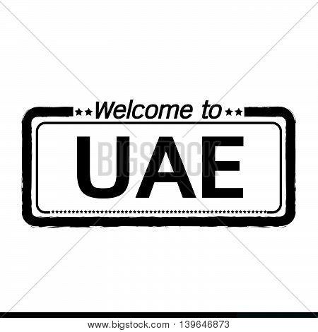 Welcome to UAE UNITED ARAB EMIRATES illustration design