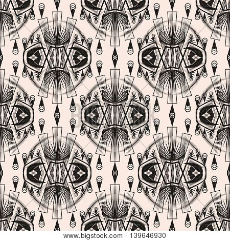 Seamless art deco modern pattern graphic ornament background repeating texture