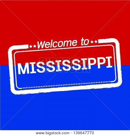 Welcome to MISSISSIPPI of US State illustration design