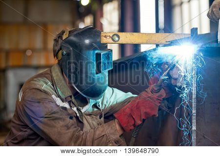 Semi-automatic Welding Of Metal Structures In The Shop