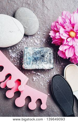 Spa Treatment And Tools For Pedicure