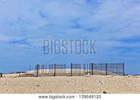 Dunes Are Protwected By Wooden Fences