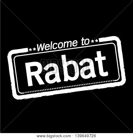 an images of Welcome to Rabat City illustration design