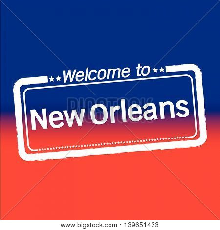 Welcome to New Orleans City illustration design