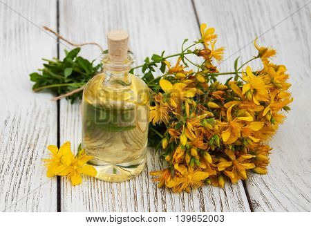 Bottle With St. John's Wort Extract