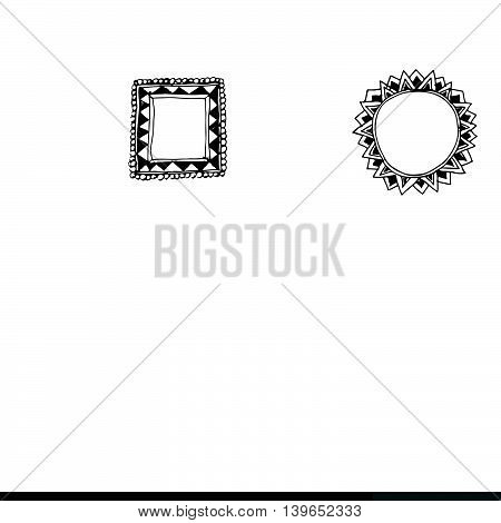 an images of hand draw frame icon illustration design